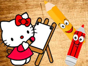 Back To School Sweet Kitty Coloring Book