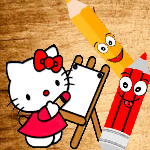 Милая Кошечка Возвращается В Школу Книжка Раскраска