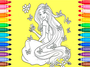 Barbie Dreamtopia Coloring Zoo