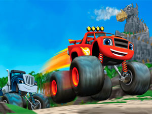 Blaze And The Monster Machines Dragon Island Racing