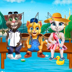 Кішки Ходять На Рибалку
