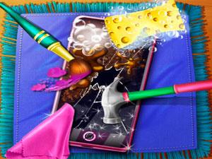 Dotted Girl Broken Phone