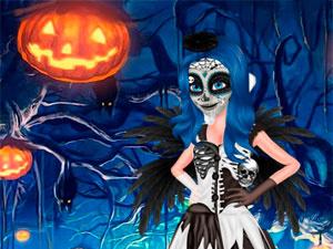 LadyBug Halloween Face Art