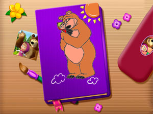 Masha And The Bear Coloring