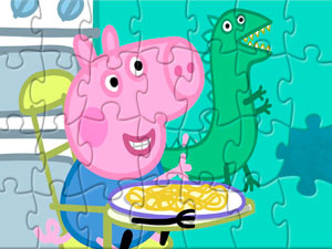 Peppa Pig Puzzle Jorge And Dragon