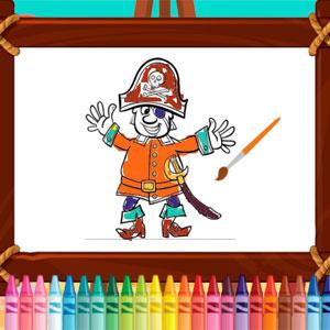 Раскраска Пиратского Путешествия