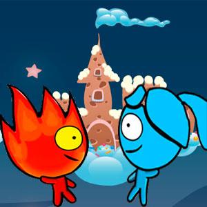Красный Мальчик И Синяя Девочка В Конфетном Мире