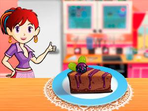 Sara`s Cooking Class Chocolate Blackberry Cheesecake