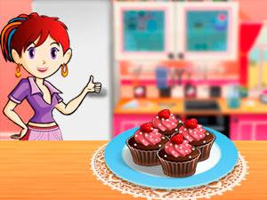 Sara`s Cooking Class Raspberry Chocolate Cupcakes