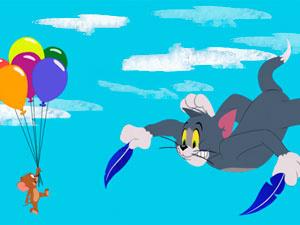 Tom & Jerry Freefalling Tom