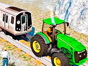 Tractor Chained Towing Train 2018