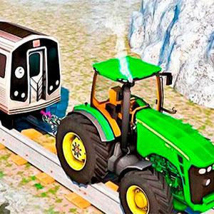 Трактор Буксирует Поезд 2018